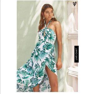 Lulus Marisha Palm Print Dress